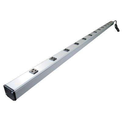 12-Outlet 15-Amp Industrial Power Strip with Lighted On/Off Switch, 15 ft. Cord