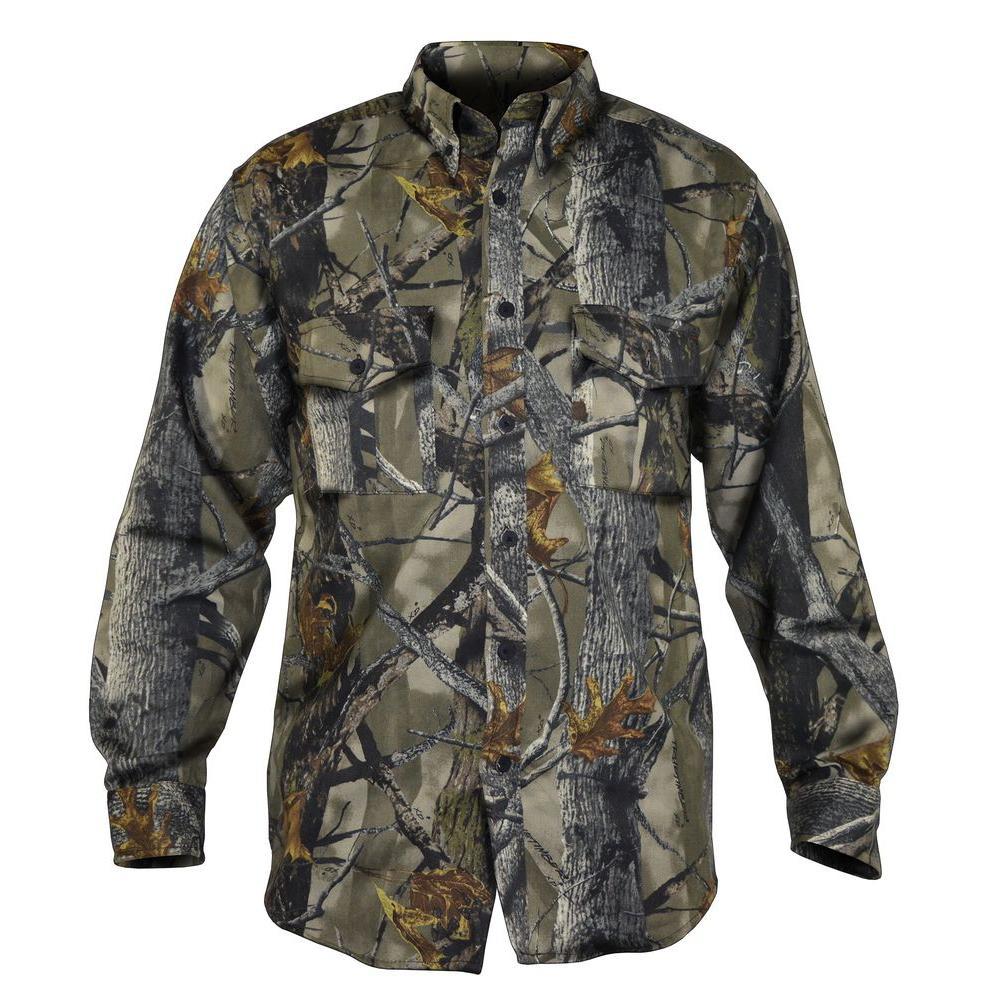 TrueTimber Camo Men's Large Camouflage Poly Cotton Button Down Shirt by TrueTimber Camo