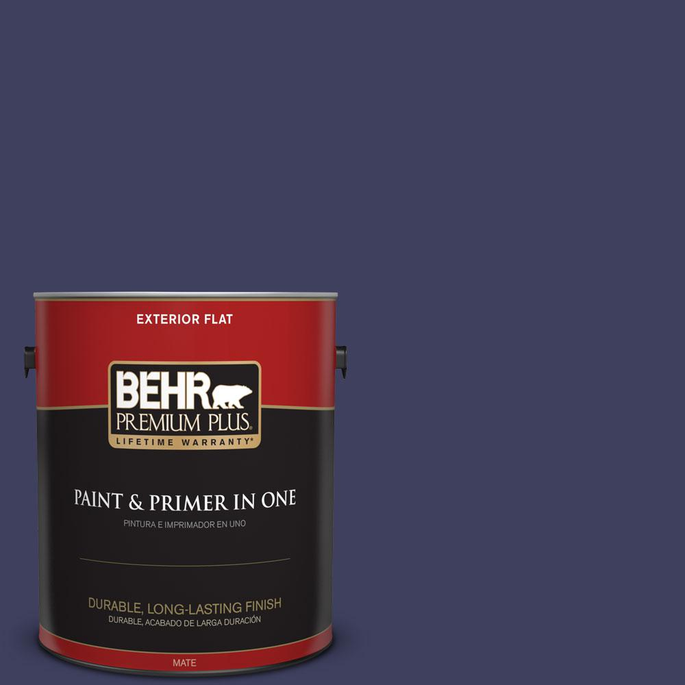 BEHR Premium Plus Home Decorators Collection 1-gal. #HDC-MD-01 Majestic Blue Flat Exterior Paint