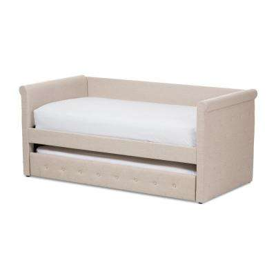 Alena Contemporary Beige Fabric Upholstered Twin Size Daybed