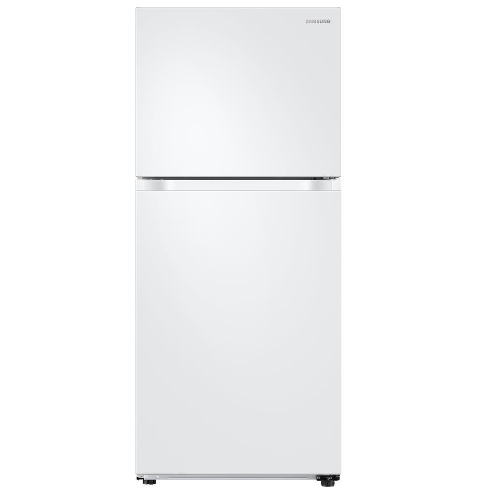 Samsung 17.6 cu. ft. Top Freezer Refrigerator with FlexZone Freezer in White, Energy Star