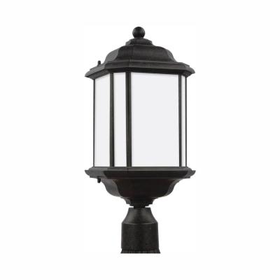 Kent 1-Light Outdoor Oxford Bronze Post Light with LED Bulb