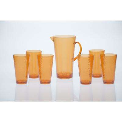 7-Piece Orange Drinkware Set