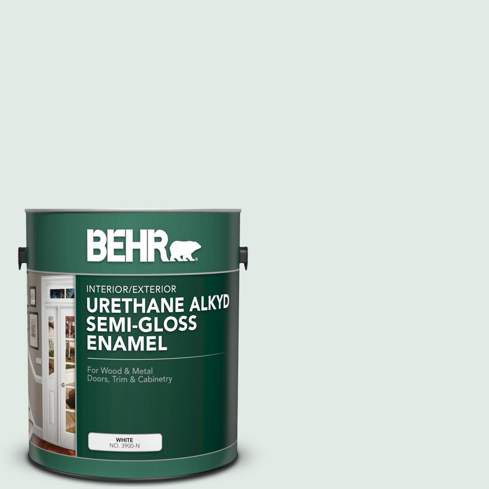 Reviews For Behr 1 Gal Icc 37 Beach Glass Urethane Alkyd Semi Gloss Enamel Interior Exterior Paint 390001 The Home Depot