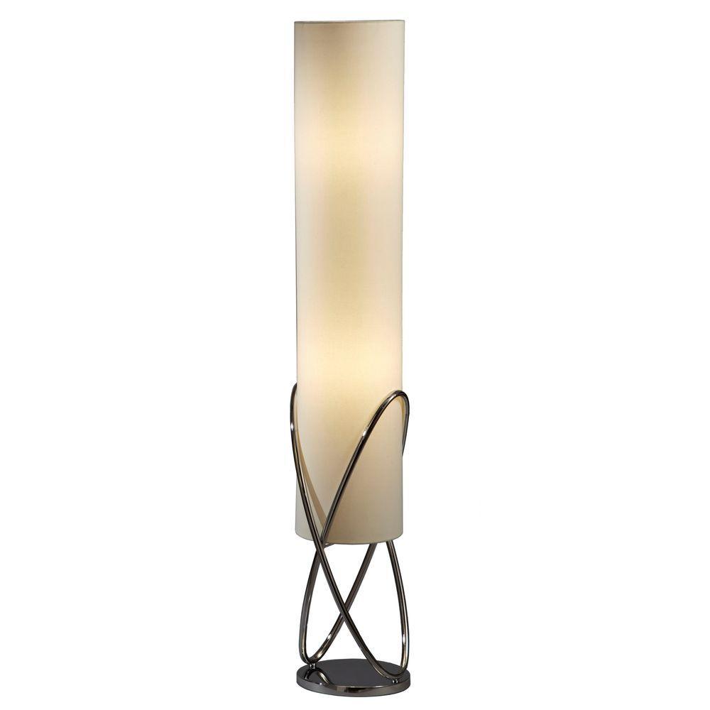 Astrulux 58 in. Chrome Floor Lamp