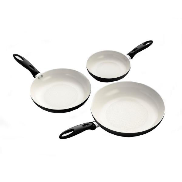 ExcelSteel 12 in. Professional Aluminum Frying Pan with Ceramic Non-Stick Coating