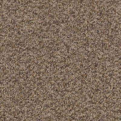 Smoke Trail - Color Dried Peat Berber Loop 12 ft. Carpet