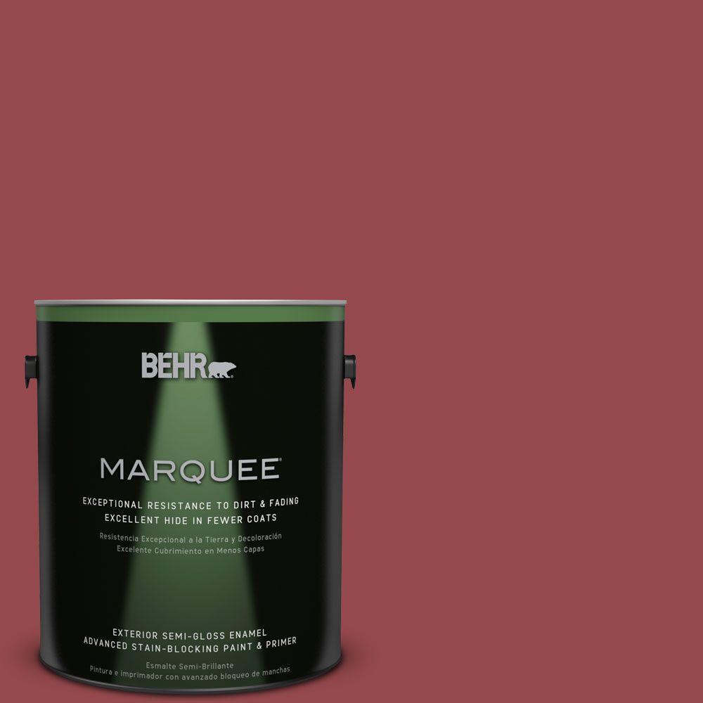 1-gal. #M140-6 Circus Red Semi-Gloss Enamel Exterior Paint
