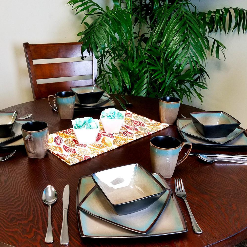 Tequesta 16-Piece Taupe Dinnerware Set
