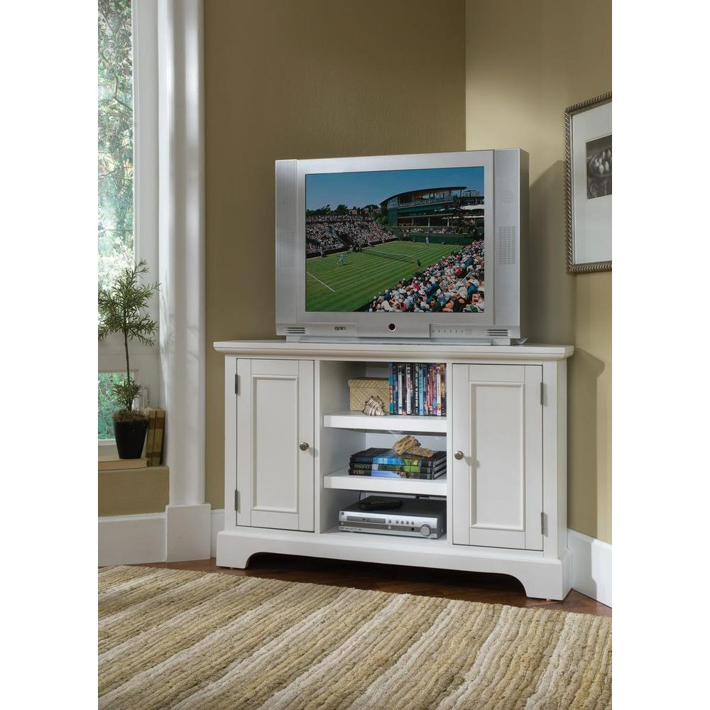 Home styles naples white entertainment center 5530 07 Homestyles com