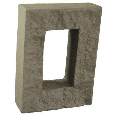 Gray Rock 7-7/8 in. x 6 in. x 1-7/8 in. Faux Outlet Cover