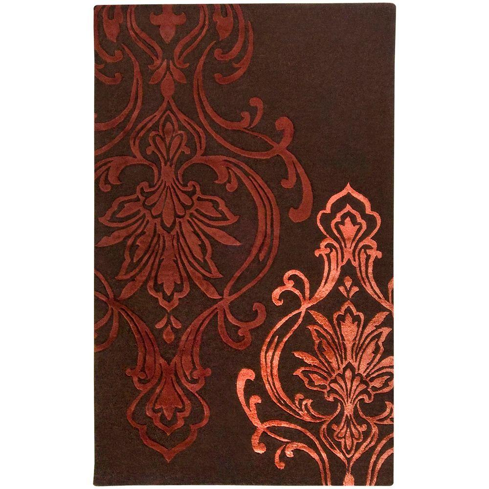 Surya Candice Olson Chocolate 3 ft. 3 in. x 5 ft. 3 in. Area Rug