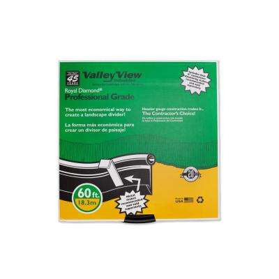 Royal Diamond 60 ft. L x 1 in. W x 5 in. H Professional Black Plastic Lawn Edging