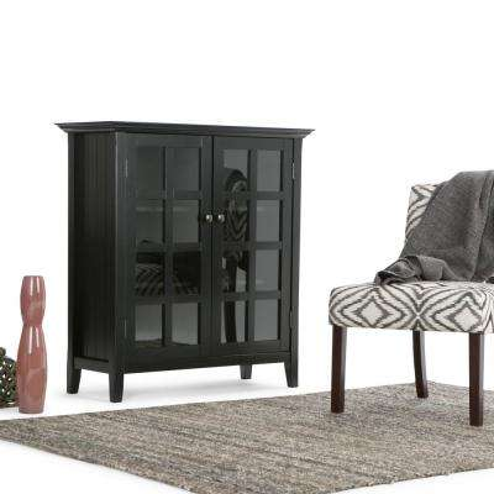 Acadian Black Storage Cabinet
