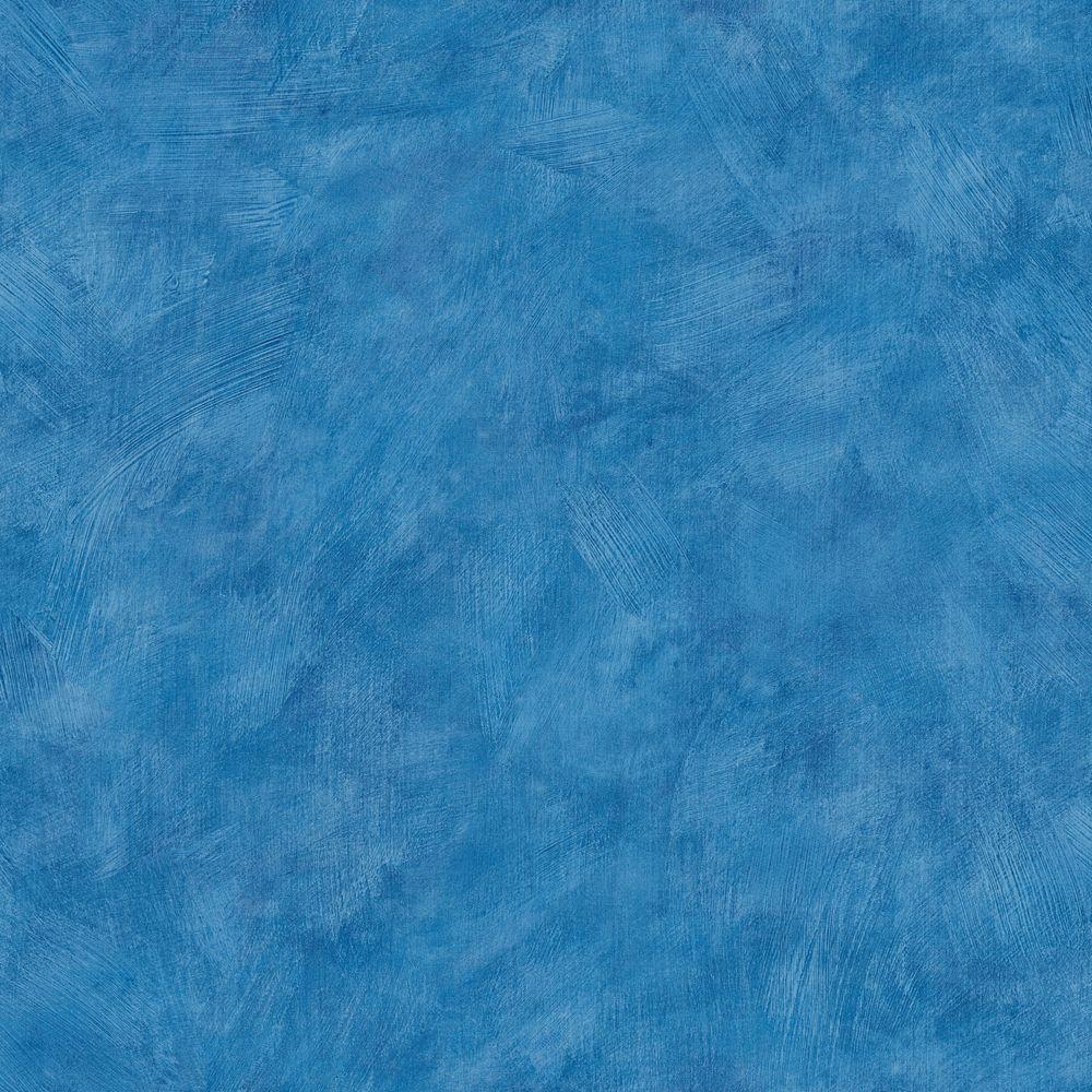 The Wallpaper Company 56 sq. ft. Blue Plaster Wallpaper