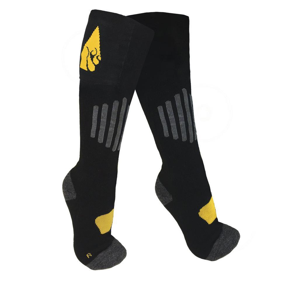 Large/X-Large Black Cotton AA Heated Sock