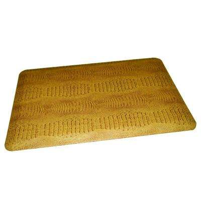 Comfort Craft Crocodile Toffee 24 in. x 72 in. Poly-Urethane Anti-Fatigue Kitchen Mat
