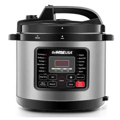 6 Qt. Stainless Steel Electric Pressure Cooker with Stainless Steel Pot