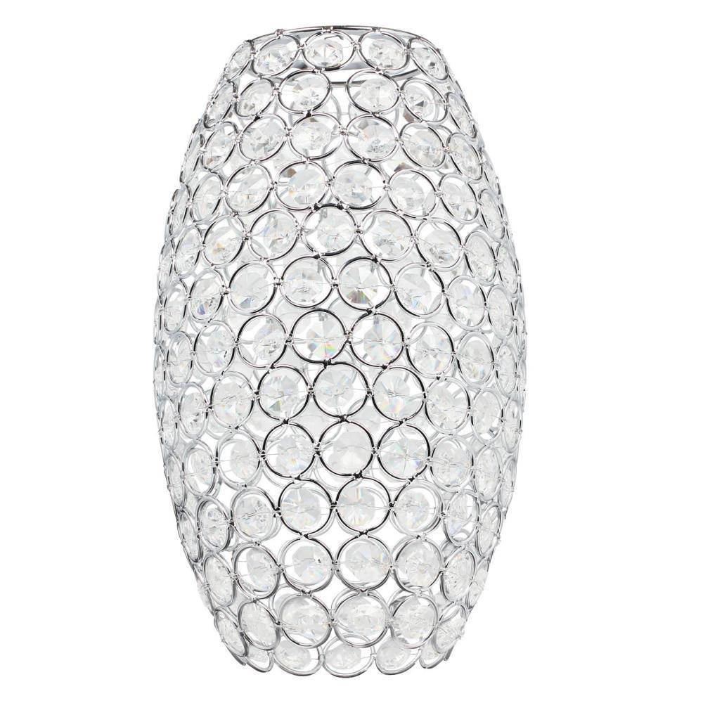 Westinghouse 10 in. Crystal Jewel Elongated Shade with 2-1/4 in. Fitter and 6 in. Width