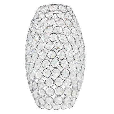 10 in. Crystal Jewel Elongated Shade with 2-1/4 in. Fitter and 6 in. Width