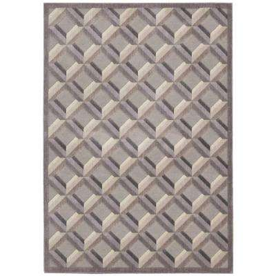 Graphic Illusions Stone 2 ft. x 4 ft. Area Rug