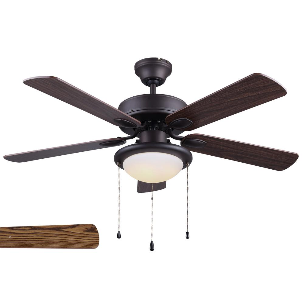 Rex 42 in. LED Indoor Oil Rubbed Bronze Ceiling Fan