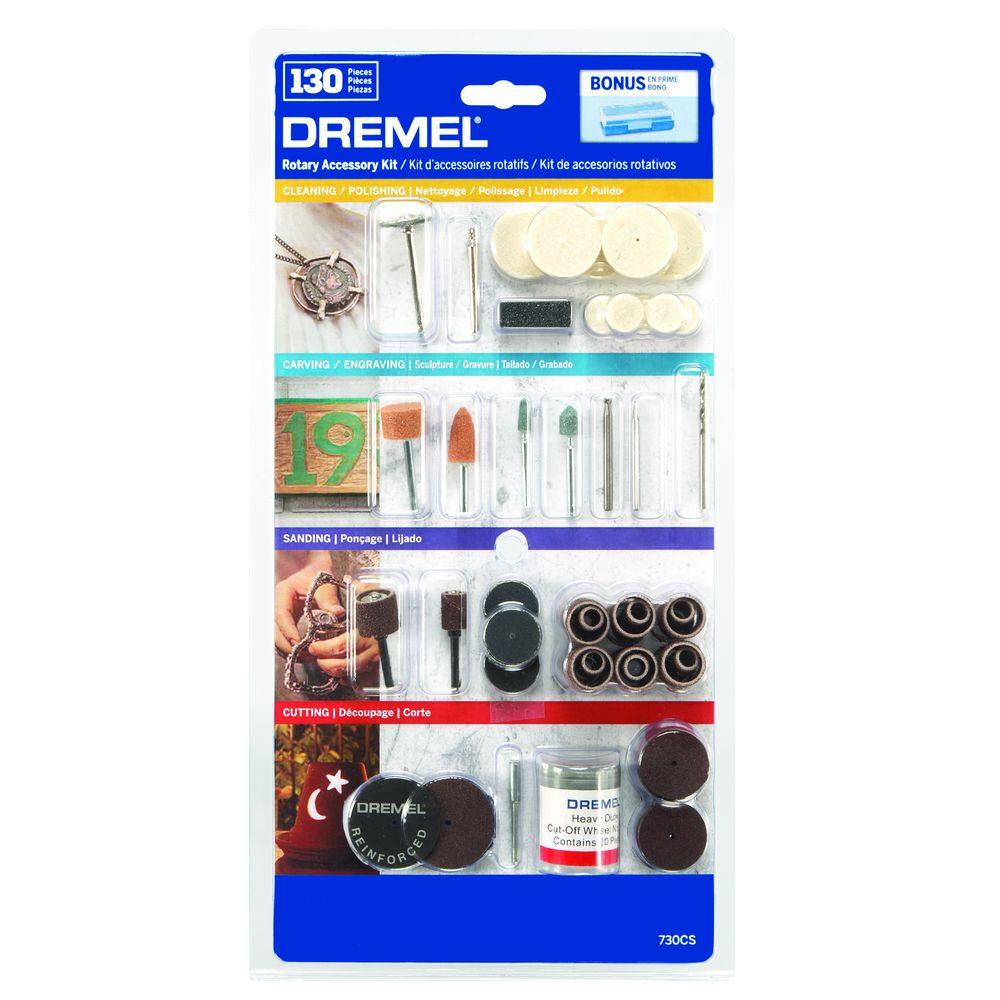 All-Purpose Rotary Accessory Kit with Storage Case (130-Piece)
