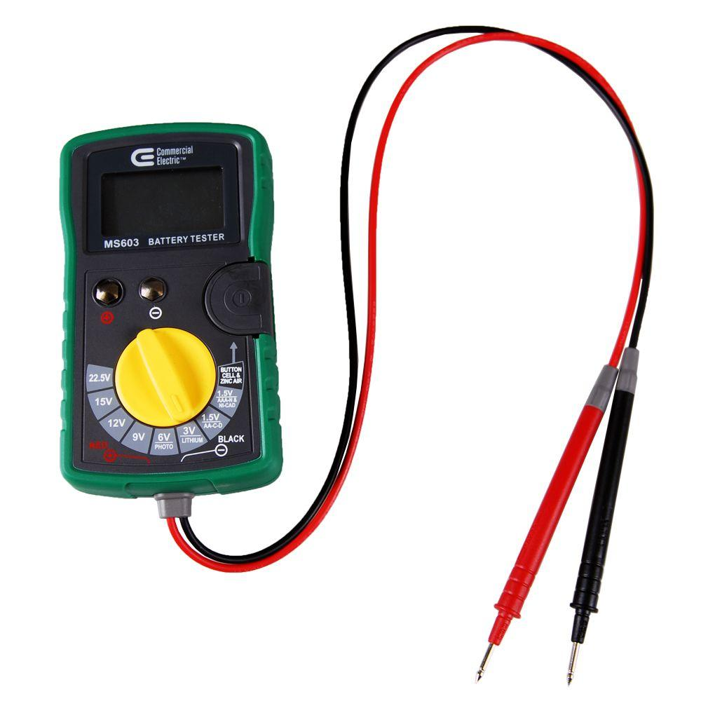 commercial electric digital battery tester ms603 the home depot