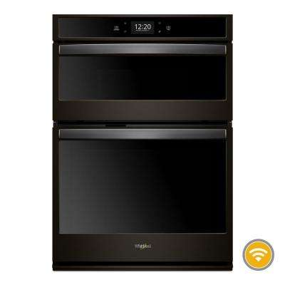 30 in. Smart Combination Wall Oven with Touchscreen in Fingerprint Resistant Black Stainless Steel