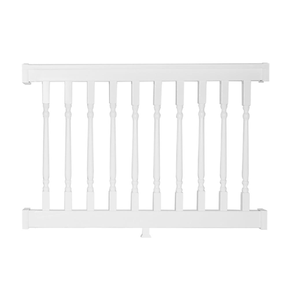 Delray 3.5 ft. H x 4 ft. W Vinyl White Railing
