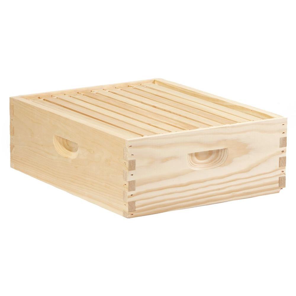 10-Frame Wood Medium Honey Super Hive