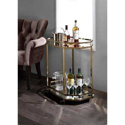 Lacole Mirror And Champagne Serving Cart