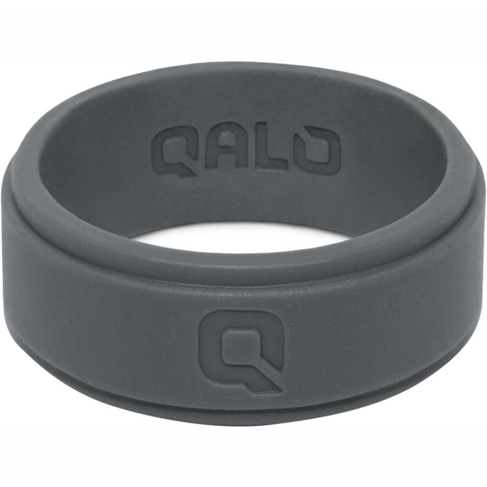 Men's Charcoal Step Edge Q2X Silicone Wedding Ring