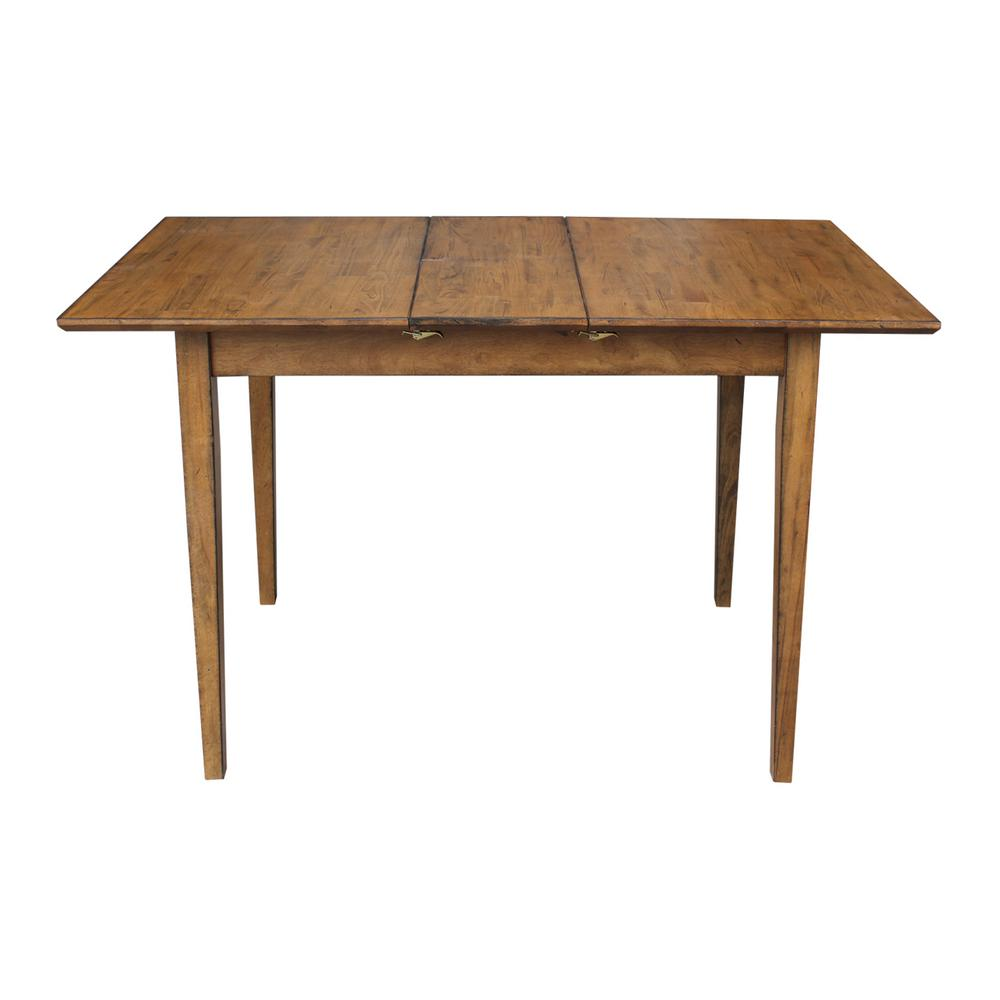 32 In X 60 Wide Pecan Shaker Dining Table