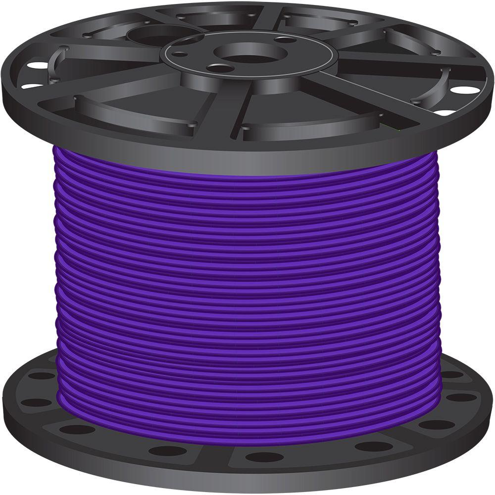 Southwire 500 ft. 6 Purple Stranded CU SIMpull Thhn Wire