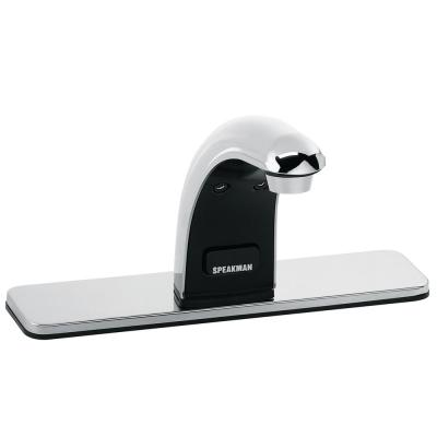 SensorFlo Classic AC-Powered Sensor Faucet with 8 in. Deck Plate in Polished Chrome