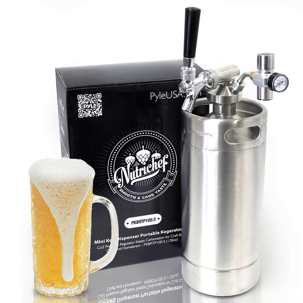 Pressurized Growler Tap System Stainless Steel Mini Keg Dispenser Portable Kegerator Kit