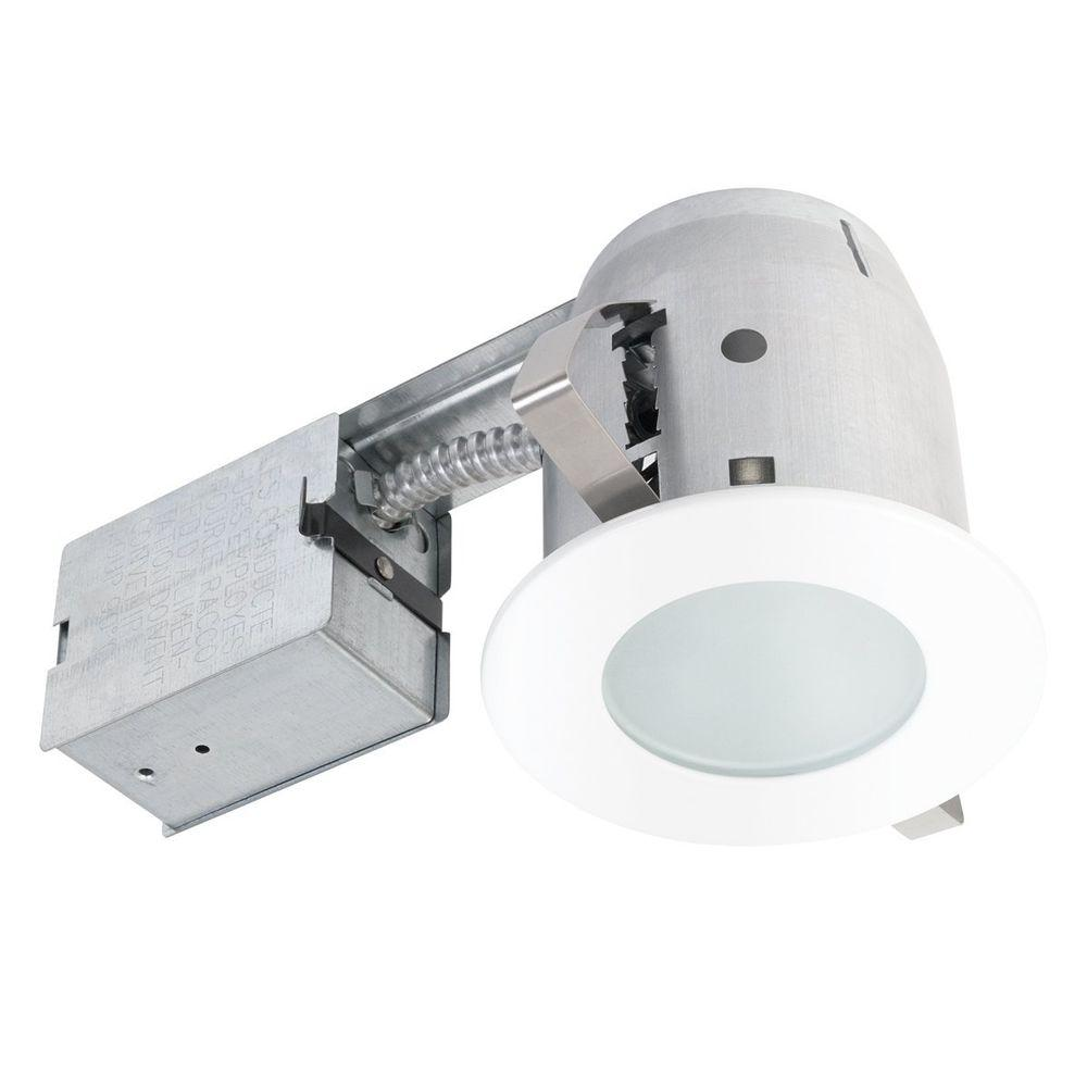 4.5 In. White Recessed Circular Shower Lighting Kit