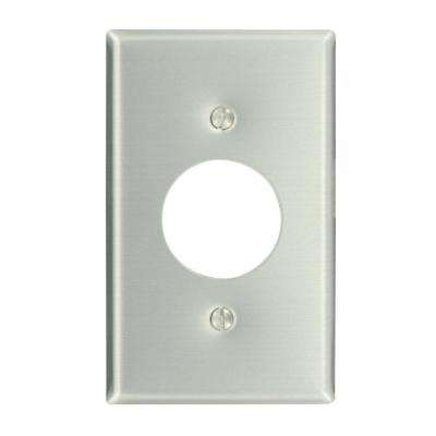 1-Gang 1 Single Outlet, Standard Size Wall Plate - Aluminum