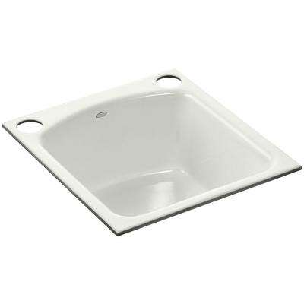 Napa Undermount Cast-Iron 19 in. 2-Hole Single Bowl Kitchen Sink in Dune