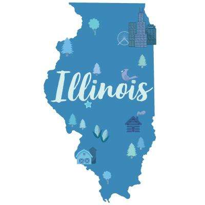 Blue Illinois Wall Decal