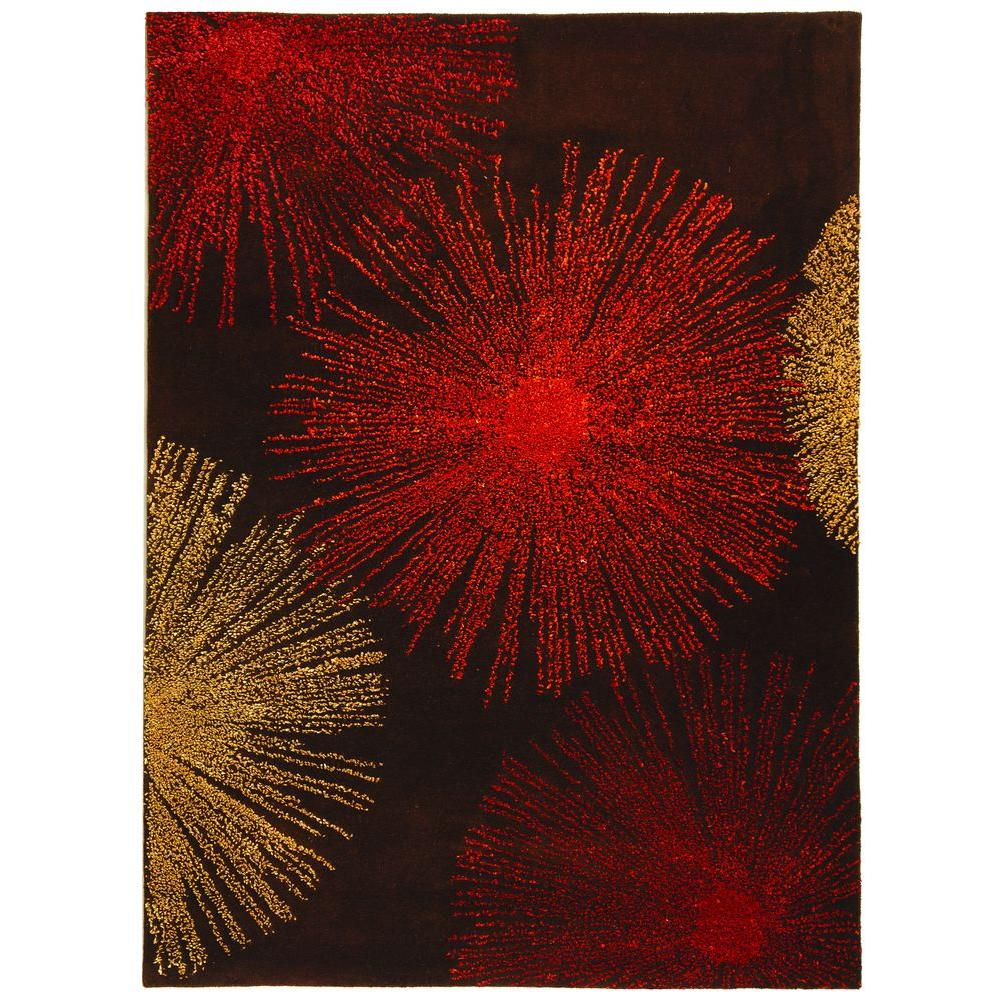 Soho Brown/Assorted Wool 2 ft. x 3 ft. Area Rug