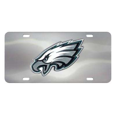 6 in. x 12 in. NCAA Michigan State University Stainless Steel Die Cast License Plate