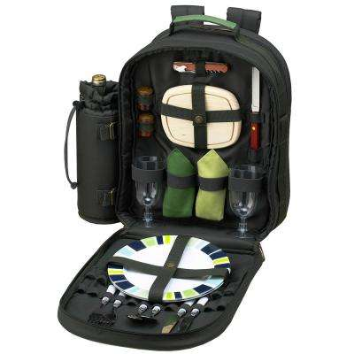 Eco Collection Deluxe Equipped 2-Person Picnic Backpack