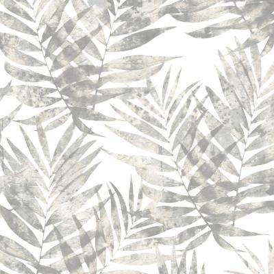Grey and Slate Grey Speckled Palm Wallpaper