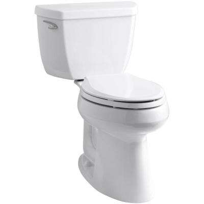 Highline Classic Comfort Height 10 in. Rough-In 2-Piece 1.28 GPF Single Flush Elongated Toilet in White
