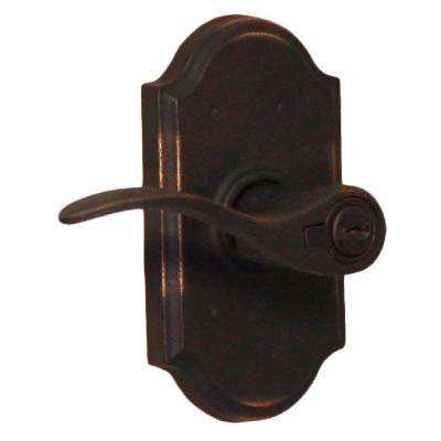 Molten Bronze Oil-Rubbed Bronze Left-Hand Premiere Keyed Entry Carlow Door Lever