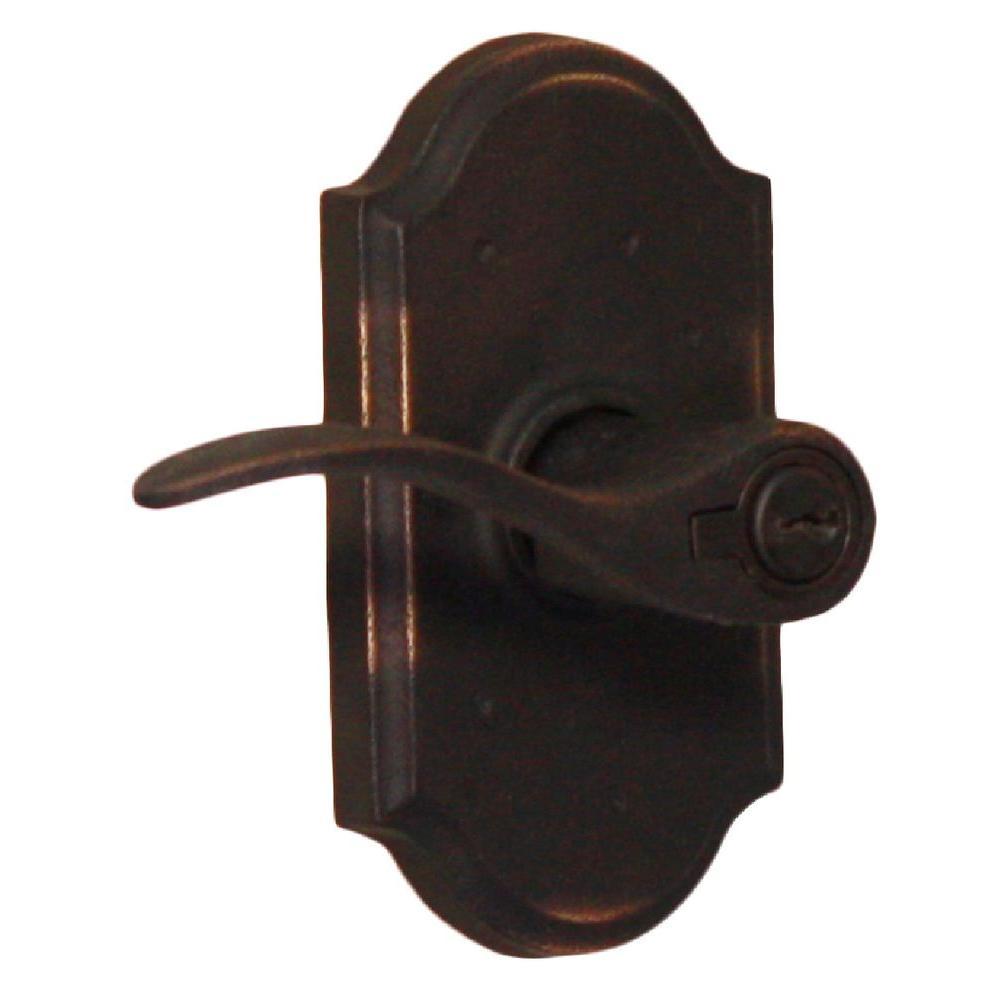 Molten Bronze Oil-Rubbed Bronze Left-Hand Premiere Keyed Entry Carlow Door Lever