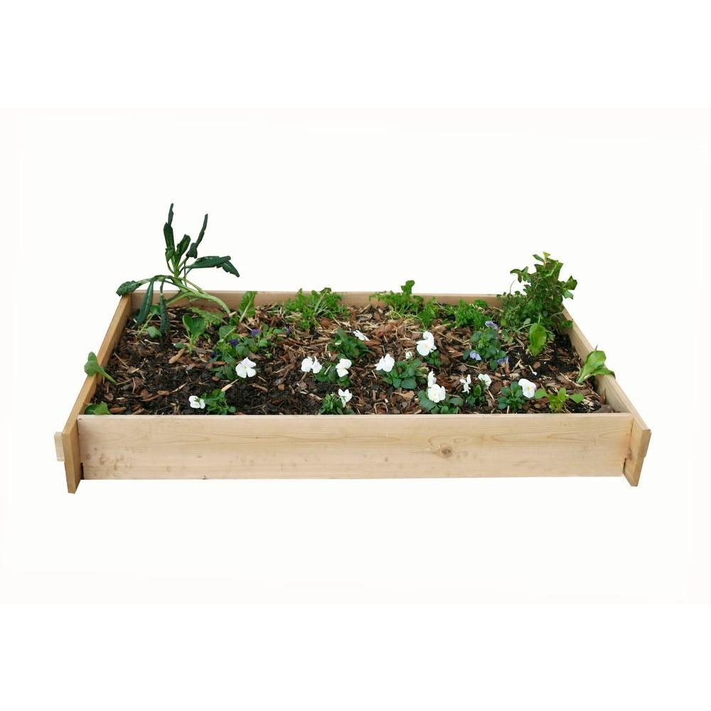 null 3 Ft. x 5 Ft. Shaker Style Raised Vegetable Garden Bed-DISCONTINUED