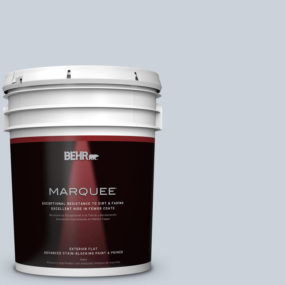 BEHR MARQUEE 5-gal. #N480-1 Light Drizzle Flat Exterior Paint